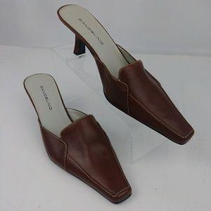 Bandolino brown mule sandals women size 10M